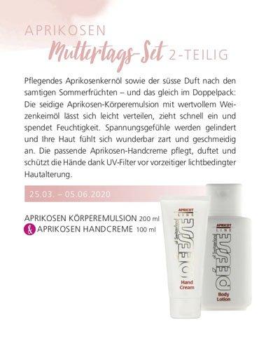 Regina Brüll Deesse Kosmetik Aktion Aprikosen Bodylotion und Aprikosen Handcreme