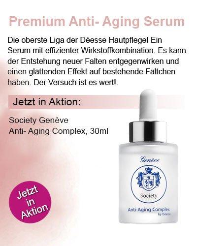 Regina Brüll Deesse Kosmetik Society Genese Anti Aging Serum Aktion