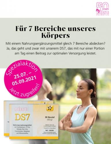 Regina Brüll Deesse Kosmetik Aktion Nahrungsergänzung DS7 Fruchtpulver