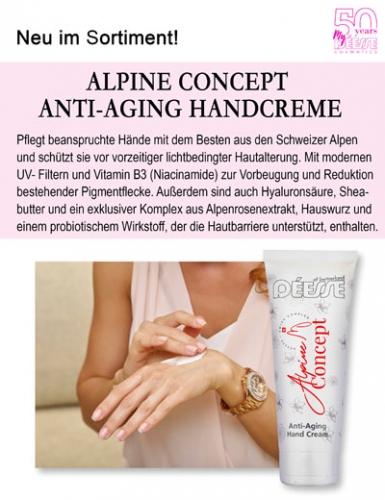 Regina Brüll Deesse Kosmetik Neu Alpine Concept Anti-Aging Handcreme